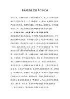 县政府党组2019年工作汇报