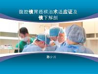 腹腔镜胃癌根治术适应证及镜下解剖讲解