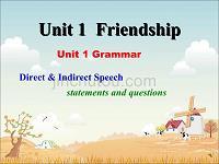 新人教版必修一课件:Unit 1 Friendship Section C Grammar