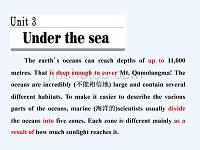 2017-2018学年高中英语 unit 3 under the seasection ⅰ warming up &;reading-pre-reading 新人教版选修7