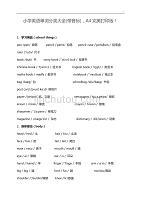 小学英语单词分类资料大全(带音标),A4完美编辑整理版