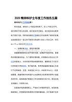 2020精神科护士年度工作报告五篇