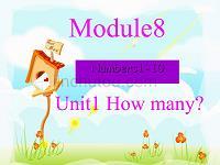 一年級英語上冊 module 8 unit 1 how many1 外研版(一起)