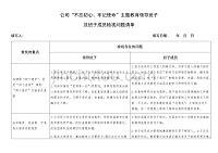 公司领导班子及个人检视问题清单(1)(表格)