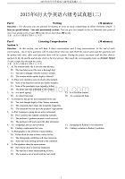 2015年6月大學英語等級考試——六級考試真題(二)