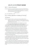 2011年12月大學英語等級考試——六級真題