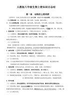 初中人教版七年级上册下册全册生物复习提纲21页 (2)