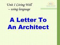 高二英語選修7 unit1 living well using language