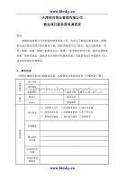 天津和兴物业管理有限公司物业项目服务需求调查表