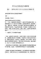 記述文之村書記述職報告2015