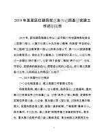 2019年某某区住建局党总支书记抓基层党建工作述职报告