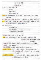 2020版病例分析知识点整理手写笔记