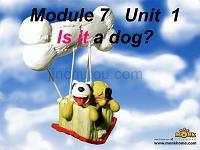 涓�骞寸骇涓����辫��璇句欢-Module 7��Unit 1 Is it a dog��3 澶���绀撅�涓�璧凤�(��18寮�PPT)