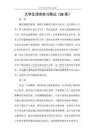 大学生顶岗实习周记(20周)