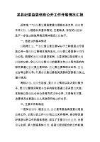 某县纪委监委信息公开工作开展情况汇报2
