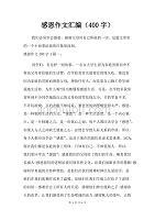 优质实用文档精选——感恩作文汇编(400字)