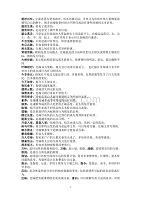 公务员考试言语成语、实词汇总(最新版)新修订