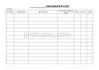 设施设备维修保养记录表
