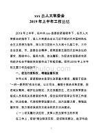 xxx县人大常委会2019年上半年工作总结