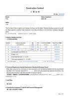 施工合同范例中英文模板-construction-contract