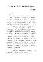 """春節期間""""四風""""問題工作小結四篇"""