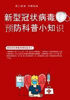 红色简约新型冠状病毒预防海报word模板