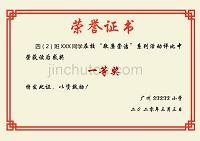 榮譽證書比賽獎狀