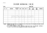 民主推薦副科級后備干部表
