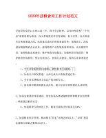 2020年县粮食局工作计划范文(1)