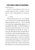 公司總經理辦公室副主任年度述職報告[范本]