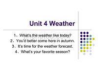 Unit4新Weather.ppt