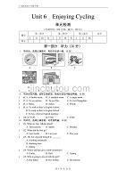仁愛版英語八年級下期Unit-6單元測試(帶答案)