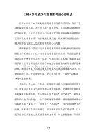 2020学习武汉考察重要讲话心得体会二
