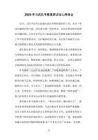 2020学习武汉考察重要讲话心得体会一