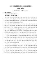 2020年全国高考(新课标卷)三轮复习信息监测 语文试题(附答案+全解全析+范文)03