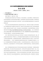 2020年全国高考(新课标卷)三轮复习信息监测 语文试题(附答案+全解全析+范文)01