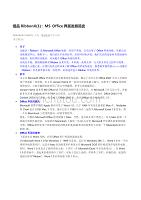 MS-Office界面发展简史