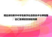 精品濰坊新華中學各教學處信息技術與課程整合匯報課的安排配檔表