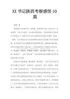 XX书记陕西考察感悟10篇