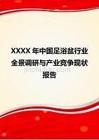 XXXX年中国足浴盆行业全景调研与产业竞争现状报告