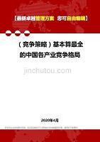 2020年(競爭策略)基本算最全的中國各產業競爭格局