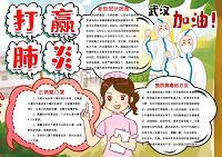 校园预防新冠病毒肺炎小报WORD模板(图文)