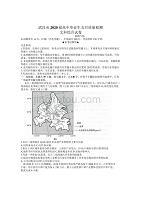 湖北省武汉市2020届高三毕业生五月质量检测文科综合试题含地理历史政治答案