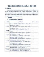 建筑工程项目总工程师(技术负责人)绩效考核表
