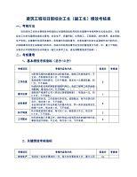 建筑工程项目部综合工长(副工长)绩效考核表