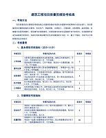 建筑工程项目质量员绩效考核表