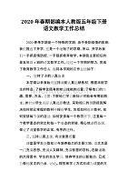 2020年春期部编本人教版五年级下册语文教学工作总结(统编教材) (14)