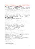 浙江省2013年高中英语 Unit4 Reading quiz练习 新人教版必修2.doc