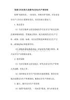 党委工作负责人党委书记安全生产责任制