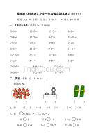 小学一年级上册数学期末练习精选(2020年整理).pdf